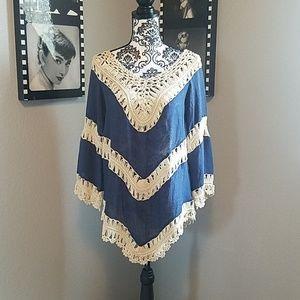 Tops - Boho crochet tunic